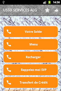 screenshot of USSD services in Algeria version 4.15