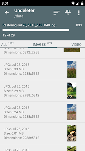 screenshot of Undeleter Recover Files & Data version 4.92