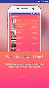 screenshot of Unfollowers for Instagram - UniSocial version 0.83