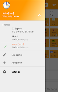 screenshot of Untis Mobile version 4.2.8