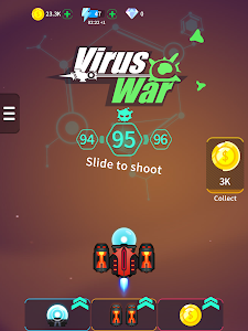 screenshot of Virus War - Space Shooting Game version 1.5.0