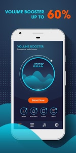 screenshot of Volume Booster - Music Player MP3 with Equalizer version 1.1.3