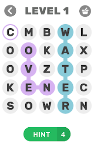 screenshot of WORD HUNTER - word search game version 1.4.9z