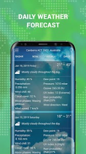 screenshot of Weather Radar Live & Alerts version 1.1.5