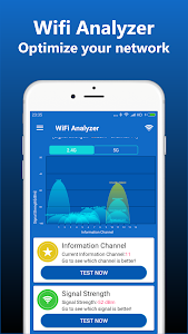 screenshot of WiFi Analyzer - Network Analyzer version 1.0.21