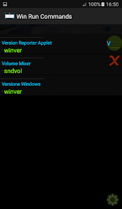 screenshot of Win Run Commands version 1.7