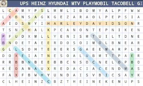 screenshot of Word Search version 1.3