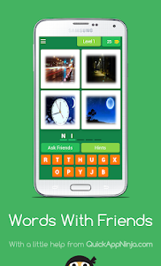 screenshot of Words With Friends version 4.1.0z