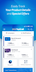 screenshot of Yapı Kredi Mobile version 3.5.3