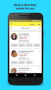 screenshot of Zocdoc Find A Doctor & Book On Demand Appointments version 3.26.1