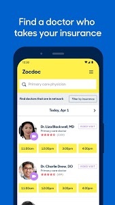 screenshot of Zocdoc Find A Doctor & Book On Demand Appointments version 3.51.0
