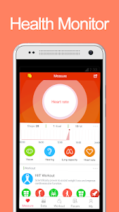 screenshot of iCare Health Monitor version 3.9.5