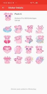 screenshot of 🐷🐽 Pigs Stickers Packs WAStickerApps version 2.4.0