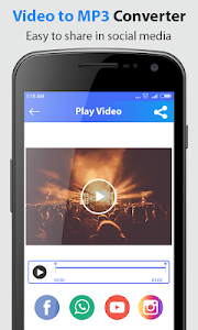 screenshot of video converter to mp3 version 1.0